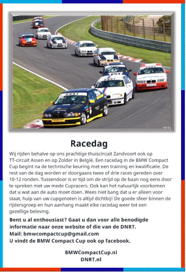 BMW Compact Cup Racedag